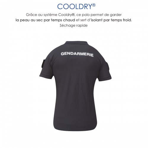 POLO COOL DRY GENDARMERIE