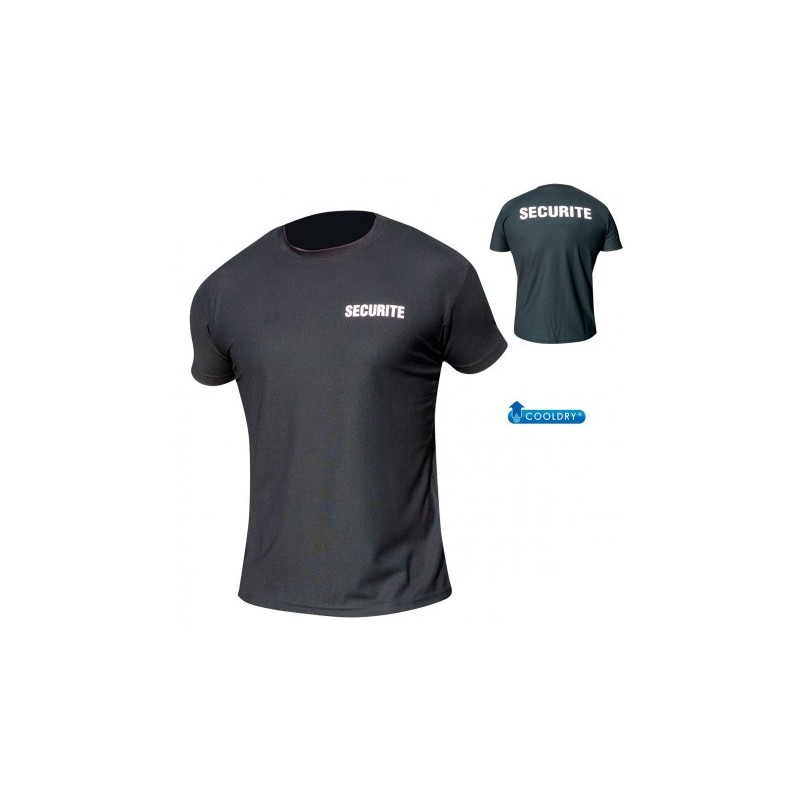 TEE SHIRT NOIR SECURITE COOLDRY