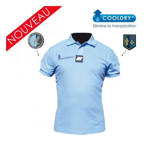Polo Gendarmerie bleu Cooldry® anti-humidité - homme